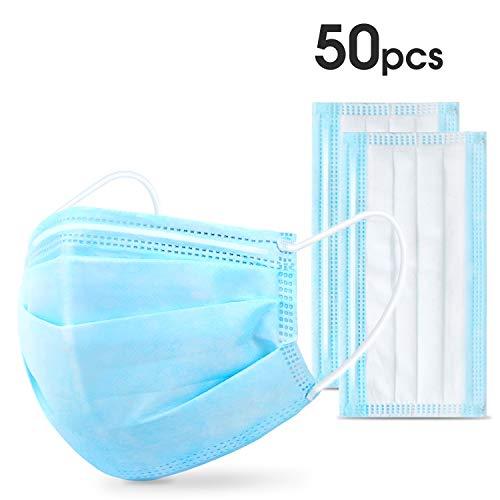 50Pcs Disposable Non-Woven Face Cover