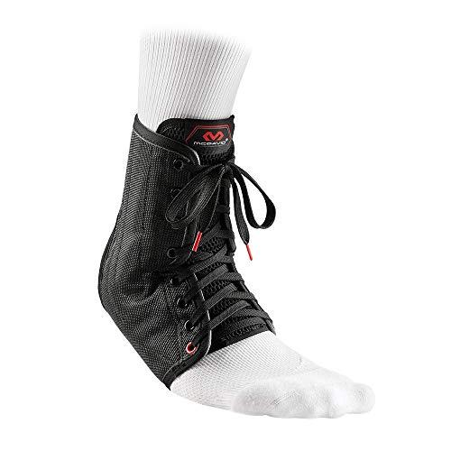 McDavid Lightweight Laced Ankle Brace , Black, medium