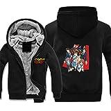 GuiSoHnh Homme Hiver Sweats à Capuche Epaisse Chaud Veste à Capuche Manteaux Manches Longues Blousons Hoodie Anime High School DXD Imprimé Sweatshirts XXL