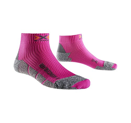 X-Socks Run Discovery New Calze, Donna, Fuchsia/Grey Moulin, 39/40