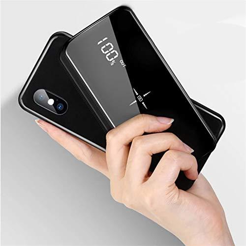 携帯用充電器、QIワイヤレスパワーバンク30000 MAH携帯用組み込みワイヤレス充電器超薄型モバイルパワーフ...