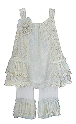 Elegant, classy outfit Lace on front and back Floral lace on sides Tulle and lace ruffles
