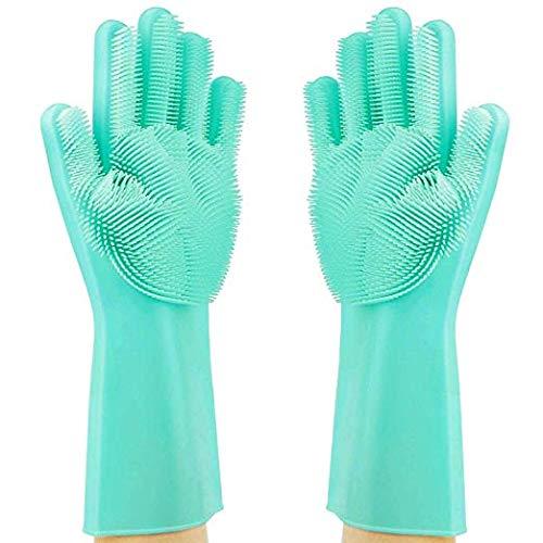Guanti in silicone magico Guanti Dish con scrubber riutilizzabili spazzola lavapiatti resistente al...