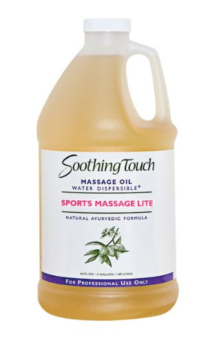 Soothing Touch W67361H Sports Massage Lite Oil, 1/2 Gallon