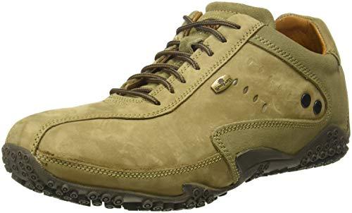 Woodland Men's Khaki Leather Sneaker-8 UK/India (42 EU) (GC 0572108CMA)