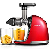 Juicer Machines, AMZCHEF Professional Cold Press Juicer Extractor Machine,Quiet Motor, Reverse Function, Slow Masticating Juicer with Brush, For fruit & Vegetable Juice