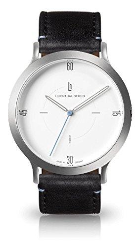 Lilienthal Berlin Unisex Erwachsene Analog Quarz Uhr mit Leder Armband L02-101-B004A