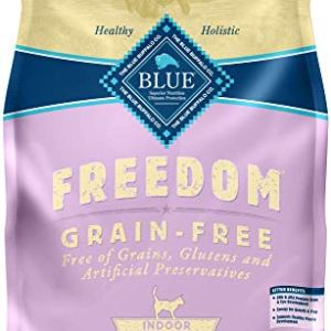 Blue Buffalo Freedom Grain Free Natural Indoor Kitten Dry Cat Food Chicken 5-lb.