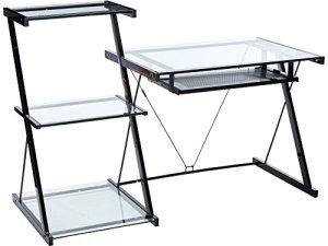 Z-Line Designs ZL2021DBU Z-Line Nero Desk and Bookcase, Black