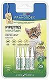 Francodex Lot de 4 pipettes anti-parasitaire naturelles pour...