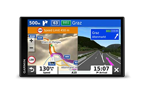 Garmin Camper 780 Advanced Camper Sat Nav with 6.95 Inch Touch Display, Traffic and Voice-Activated Navigation, Black