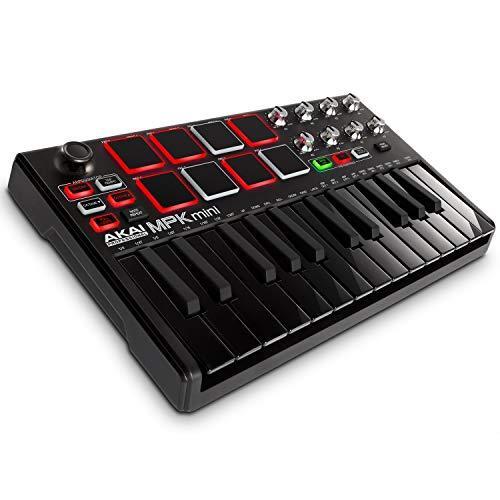Akai Professional MPK Mini MKII | 25-Key Portable USB Midi Keyboard and Pad Controller