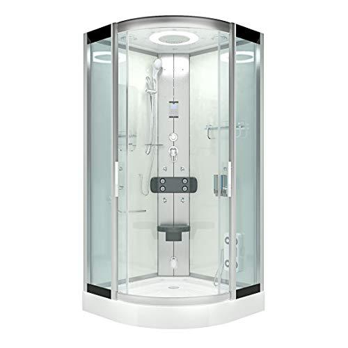AcquaVapore DTP8046-6002 Dusche Dampfdusche Duschtempel Duschkabine 100x100 XL JA mit 2K Scheiben Versiegelung