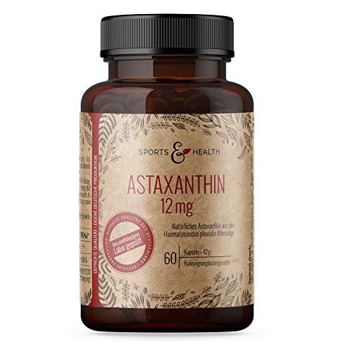 Astaxanthin 12 mg Depot Softgel Kapseln mit Oxidationsschutz - 4 Monatsvorrat - 60 Gel Caps - Mit Vitamin E - inkl. Nachweisanalyse in den Produktbildern