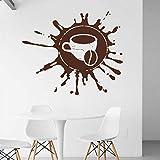 wZUN Calcomanía de Pared de Taza de café, Tiempo de Descanso, café, café, Restaurante, calcomanía, Vinilo, Adhesivo para Pared, 42X50cm