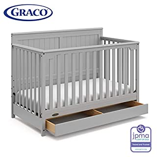 4-IN-1 CRIB: Designed to grow with your baby, the Hadley easily converts from crib to toddler bed, day bed, and full-size bed; fits standard size crib mattress (bed frame and mattress not included). CRIB WITH DRAWER: The Hadley's spacious drawer offe...