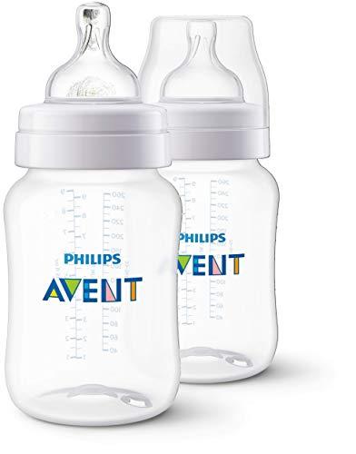 Mamadeira 260 ml Clássica com Duas Unidades, Philips Avent, Transparente