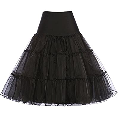 GRACE KARIN petticoats for women, 1950s vintage clothing Colors: Black/ White/ Ivory/ Red/ Yellow/ Blue/ Navy/ Grey/ Violet Red/ Pink/ Green/ Rose Red/ Orange/ Sky Blue/ Purple/ Light Green Washing way: Hand wash or dry clean your petticoat The knee-...