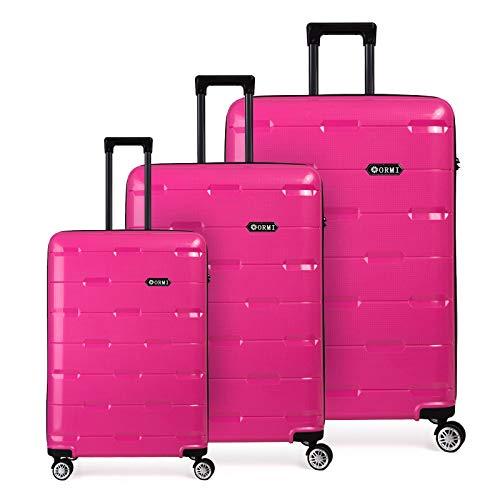 Toctoto Set valigie da viaggio in Polipropilene - Trolley Rigidi e Leggeri con 4 Ruote - 55x40x22...