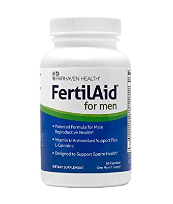 A PATENTED, CLINICALLY STUDIED MALE FERTILITY SUPPLEMENT: In a 90 day, Prospective, Randomized, Double-Blind, Placebo-Controlled Study Involving 14 Men Receiving Either FertilAid for Men or a Placebo, the FertilAid for Men Group Showed Significant Im...