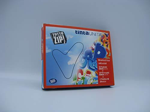 Ricarica il tuo Astuccio, Scatola composta da 18 pastelli + 18 pennarelli + 2 matite Hb Tinta Unita PoolOver