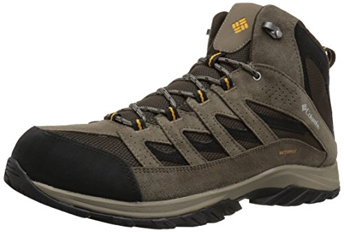 Columbia Men's Crestwood Mid Waterproof Hiking Boot, Breathable, High-Traction Grip, 10 Regular US, cordovan, squash