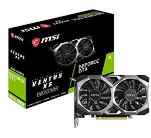 MSI GeForce GTX 1650 Super Ventus XS OC  Gaming GeForce GTX 1650 Super 128-Bit HDMI/DP/DVI 4GB GDRR6 HDCP Support DirectX 12 Dual Fan VR Ready OC Graphics Card (GTX 1650 Super Ventus XS OC)