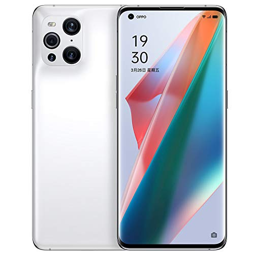 Original Oppo Find X3 8G+128GB 5G Mobile Phone Snapdragon 870 6.7'AMOLED 120Hz Screen 4500mAh 65W Super VOOC 30W 50MP+50MP Global Warranty Cellphone by-(Real Star Technology (White (AG Glass))
