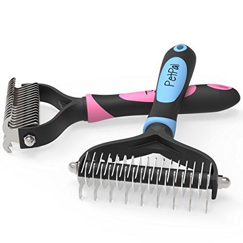 PetPal Premium Honden/kattenborstel   Afgeronde tanden   Ergo Grip handgreep   Roestvrij staal   Eenvoudig te reinigen