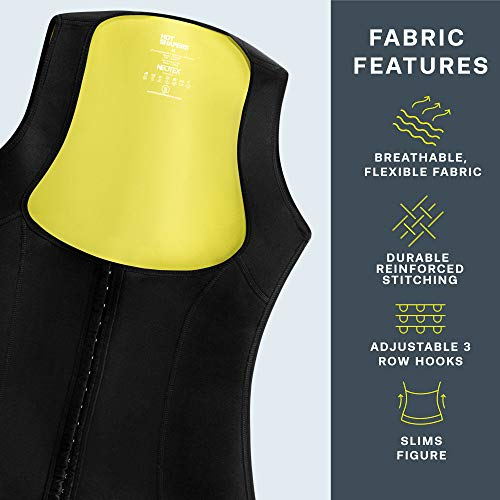 HOT SHAPERS Cami Hot Waist Cincher – Women Slimming Sweat Vest & Sauna Body Shaper (Small, Black) 6