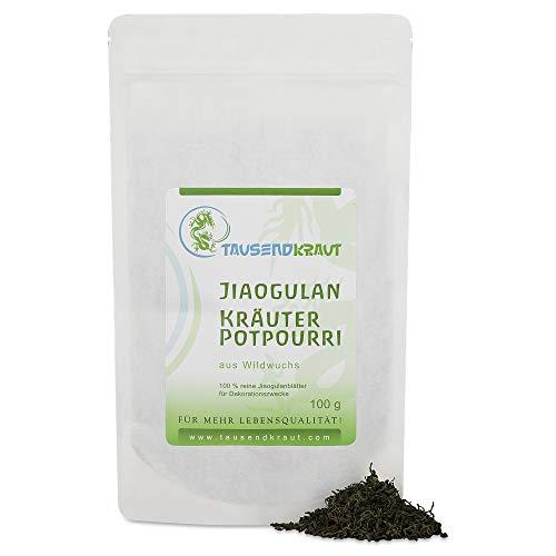 Tausendkraut Premium Jiaogulan - 100g - Frische Ernte - Unsterblichkeitskraut - Nachhaltiger Wildwuchs Anbau - Hohe Produktsicherheit - Beste Qualität - Seit 2006 selber Vertragsfarmer