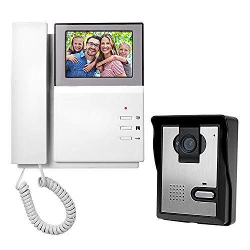 NN99 Video Citofono Citofono 4.3inch Color Screen Monitor + Telecamera impermeabile 700TVL IR Night Vision Video Citofono Campanello per la casa (1 Camera + 1 Monitor)