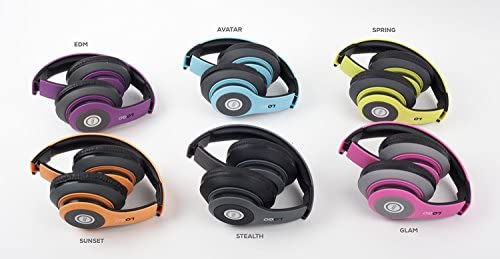 iJoy Matte Finish Premium Rechargeable Wireless Headphones Bluetooth Over Ear Headphones Foldable Headset with Mic (Stealth) 18