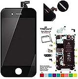 Trop Saint Ecran Noir pour iPhone 4S - Kit de Réparation avec Tapis de...