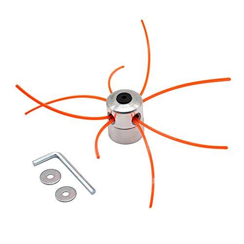 SWNKDG Stringa di Alluminio Testa di Erba Trimmer Testa a Doppia Testa Filo Bobina di Nylon Filo per...