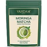 VAHDAM, té verde Matcha Moringa (50 porciones)   100% PURE Matcha Tea Powder de origen japonés  ...