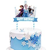 1 Decorations for Frozen Cake Topper Set Cake Topper Decorations Birthday Party Topper for Children