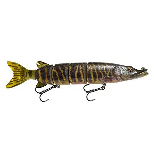 Savage Gear 3D 26 cm 130 G Hard Pike  Swimbait per luccio, esche artificiali per pesca al luccio, wobbler, colore: Striped Pike