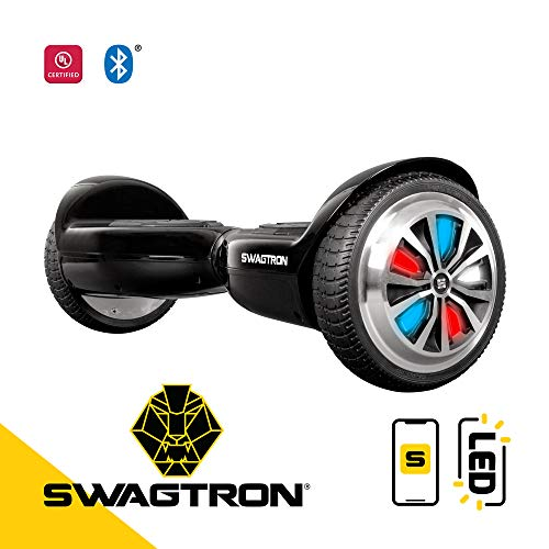 Swagtron Swagboard T5 Entry Level Hoverboard for Kids and Young Adults; Optional Learning Mode; Patented Battery Protection