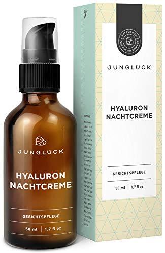 Junglück Nachtcreme mit Hyaluron & Arganöl auf bio Aloe Vera Basis   50 ml im...