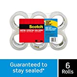 Scotch Heavy Duty Shipping Packaging Tape, 1.88' x 54.6 Yards, 3' Core, Clear, Great for Packing, Shipping & Moving, 6 Rolls (3850-6)