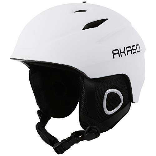 AKASO Ski Helmet, Snowboard Helmet - Climate Control Venting, Dial Fit, Goggles Compatible, Removable Fleece Liner and Ear Pads, Safety-Certified Snow Helmet for Men & Women