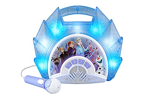 eKids Frozen Sing Along Boom Box Speaker with Microphone for Fans of Frozen