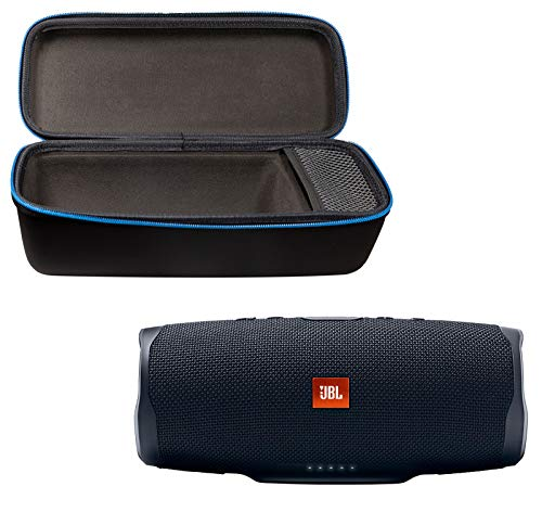 41itcreubbL This bundle includes (1) JBL Charge 4 Portable Waterproof Wireless Bluetooth Speaker and (1) divvi! Charge 4 Protective Hardshell Case. Wirelessly connect up to 2 smartphones or tablets to the speaker and take turns enjoying powerful sound. Built-in rechargeable Li-ion 7500mAh battery supports up to 20 hours of playtime and charges your device via USB port. - Take Charge 4 to the beach or the pool without worrying about spills or even submersion in water.