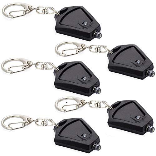 Finware 5 Pack Mini LED Keychain Flashlight, Ultra Bright Key...