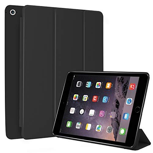 N NEWTOP Cover Compatibile per Apple iPad Air II 2 da 9.7' Pollici 2014, Custodia Flip Smart Libro Ori Case Ultra Sottile Leggera Stand Supporto Funzione Wake/Sleep Simil Pelle (Nero)