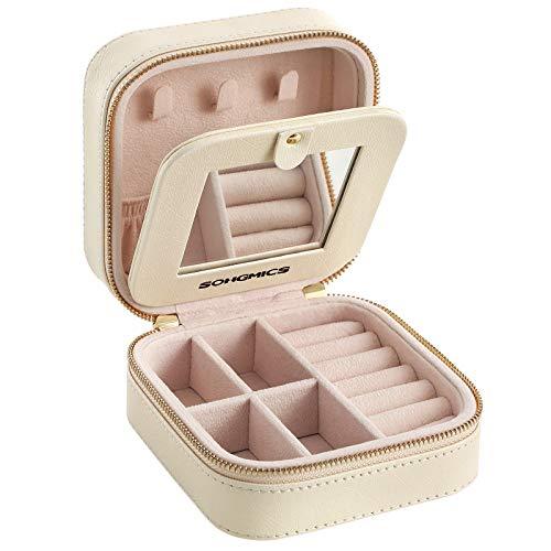 SONGMICS Petite boîte à Bijoux pour Voyage, Déplacement modèle Mini...