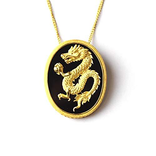 PRIMAGOLD(プリマゴールド) 24金メンズジュエリー 純金ペンダント 龍(ドラゴン)モチーフ ネックレス紐付き ...