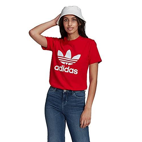 adidas GN2902 Trefoil Tee T-Shirt Donna Scarlet 42