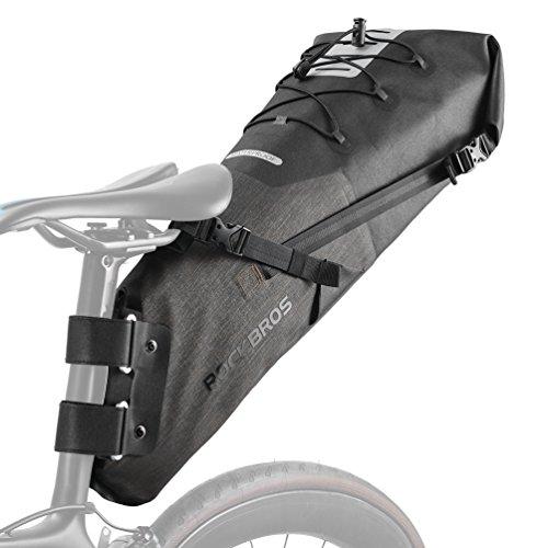 ROCK BROS Waterproof Bike Saddle Bag 13L Large Capacity Bikepacking Bag Road Mountain Bike Seat Bag Bicycle Saddle Bag